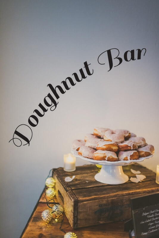 A 2016 wedding trend we love is the doughnut bar! These custom doughnuts were made by the culinary team at Willowdale Estate  - willowdaleestate.com