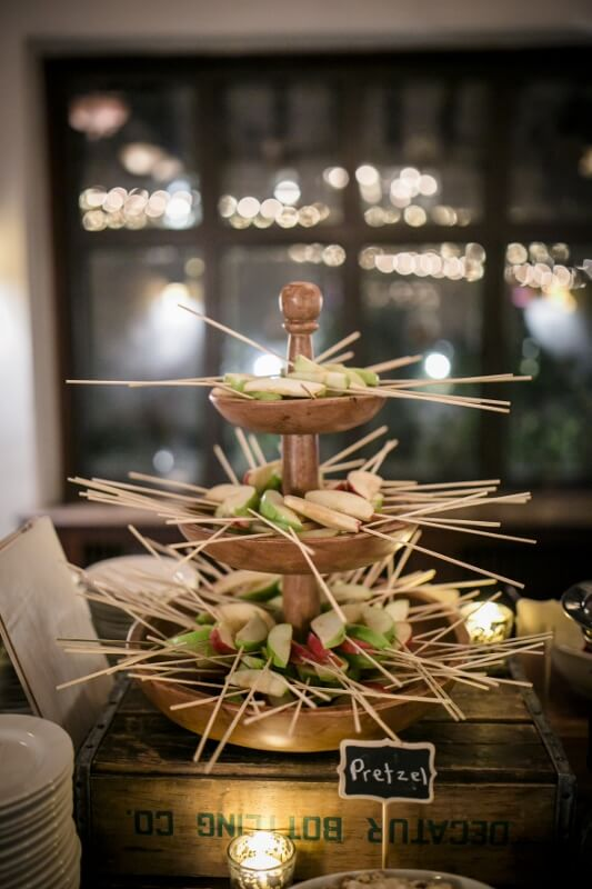 The perfect dessert for a fall wedding - a caramel apple station! This custom candy apple bar is from a wedding at Willowdale Estate, a venue north of Boston willowdaleestate.com