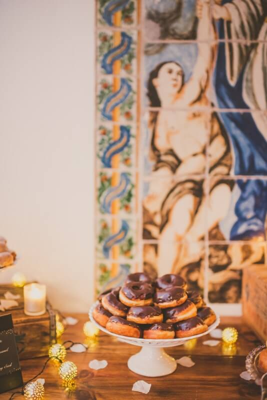 We love a good doughnut dessert station for weddings and events- guests will love you! willowdaleestate.com